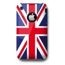 Coque drapeau Anglais UK + film protecteur pour iPhone